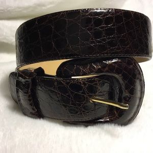 Encueros Genuine Leather Brown Embossed Belt S/M